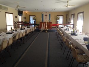 The church is all dressed up and ready to go!! Looking very fancy!